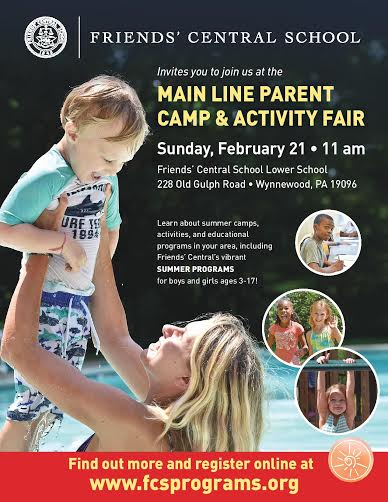 Main Line Parent Camp & Activity Fair, Sunday February 21, 2016 11am-2pm