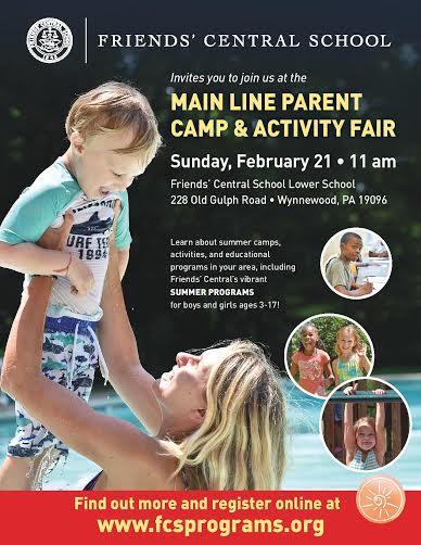 Main Line Parent Camp & Activity Fair, Sunday February 21, 2016 11am-2pm